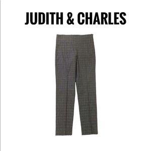 Judith & Charles Wool Grey Checkered Pants